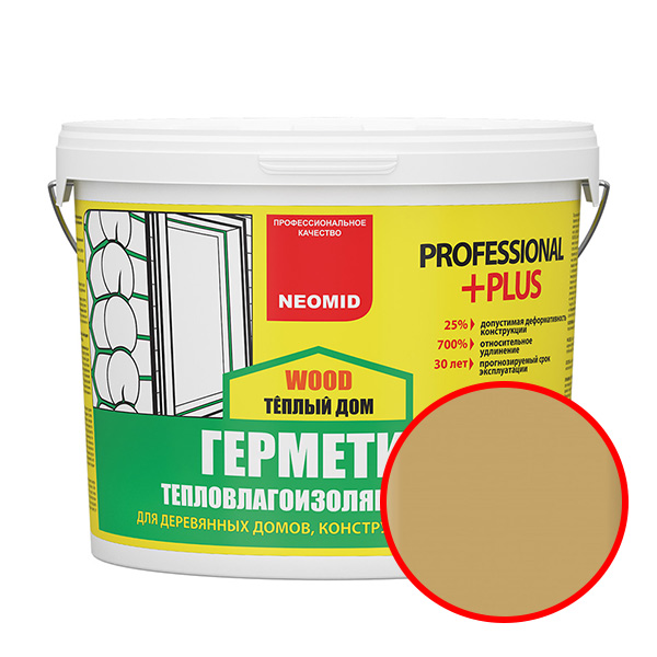 NEOMID  Теплый ДОМ Wood Professional Plus СОСНА (15 кг) ведро
