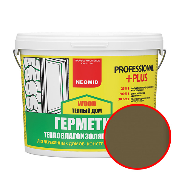 NEOMID  Теплый ДОМ Wood Professional Plus ДУБ (3 кг) ведро
