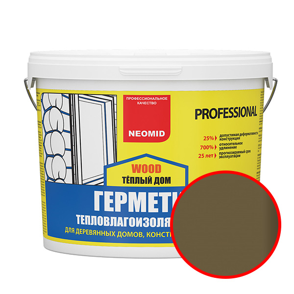 NEOMID  Теплый ДОМ Wood Professional ДУБ (15 кг) ведро