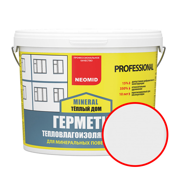 NEOMID  Теплый ДОМ Mineral Professional БЕЛЫЙ (3 кг) ведро